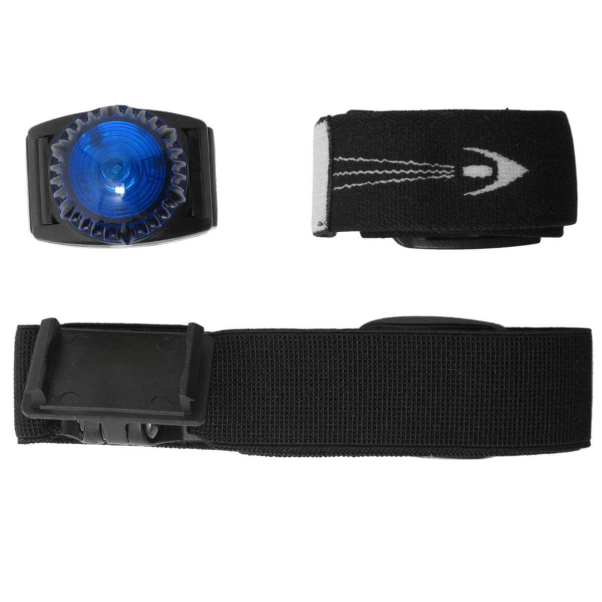 NightGear Visual Person Marker - Adventurer Accessory Pack - Polycarbonate Belt Clip - Soft Headband - Soft Armband (Blue)