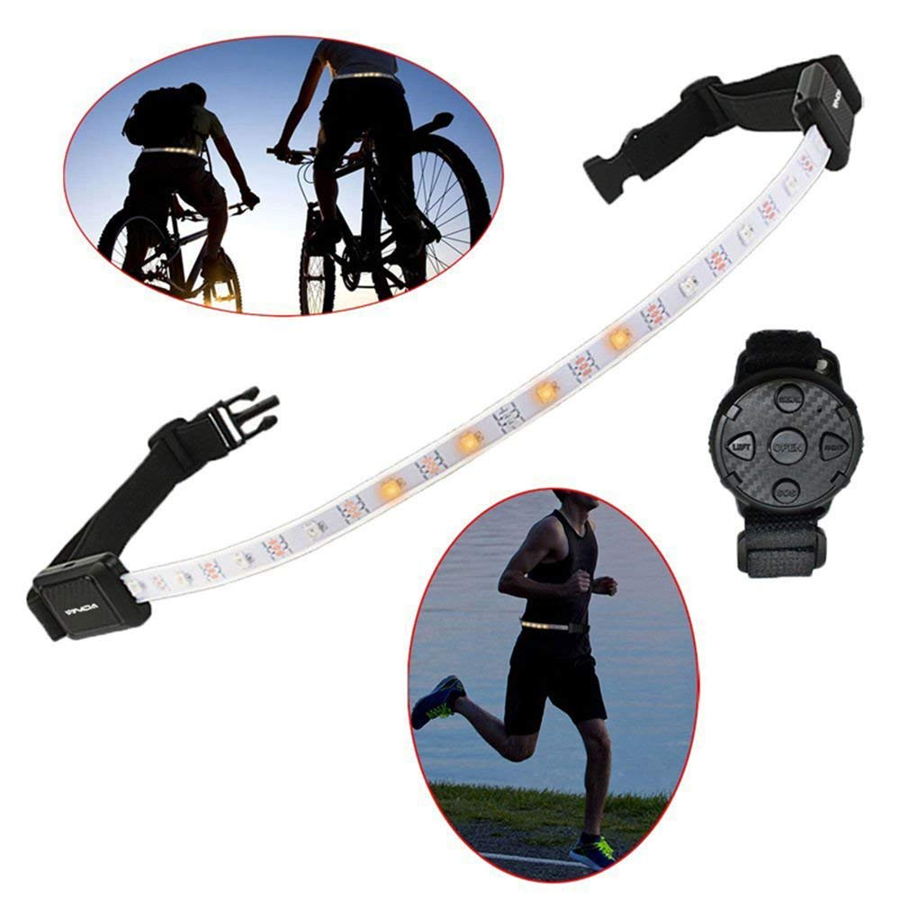 Zealbea Focus LED Reflective Light Belt,Security LED Reflective Gear LED Warning Light Belt with Remote Control, Rechargeable High Visibility Gear Waist Belt for Running,Cycling,Walking