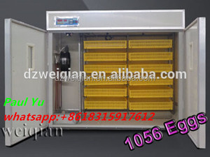 WQ-1056 Full autimatic incubator prices india used poultry incubator for sale Made in China