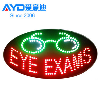 New Designs Acrylic led eyebrow threading sign led shop open sign