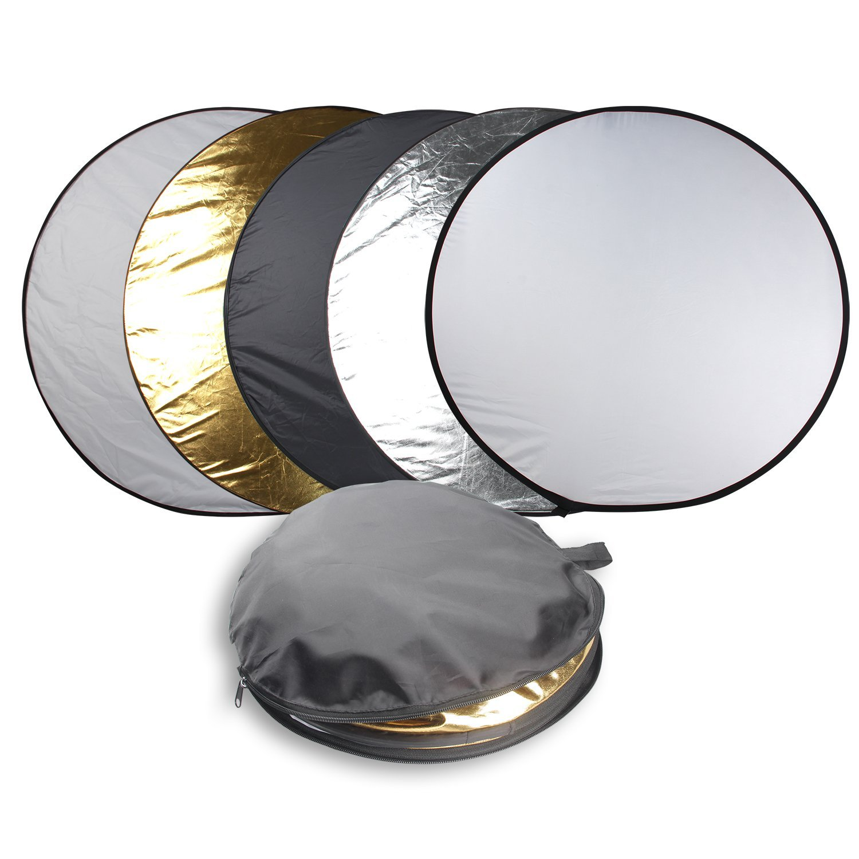 AGG2547 LimoStudio Photo Video Studio Photography Black /& White Reflector Diffuser Umbrella Light Kit Studio Light Bulb with Reflector Dish Bowl