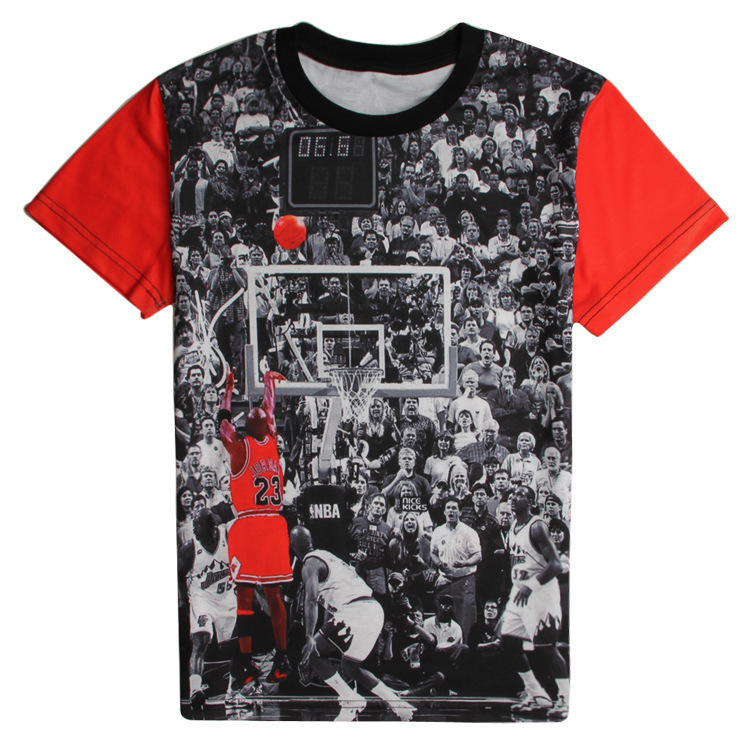 2d23428f Get Quotations · 2015 summer new arrival 3d t shirt jordan tees classic  last-gasp goal graphic tees