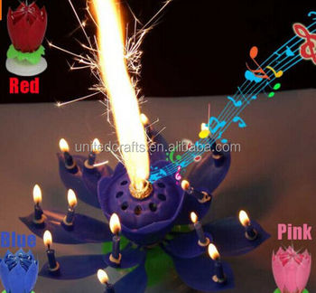 Magical Opening Flower Musical Best Happy Birthday Candle