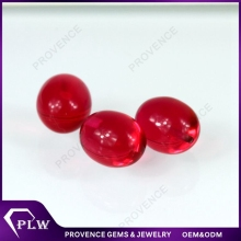 China Wholesale Price 2mm Garnet Cabochon Crystal Glass Gems