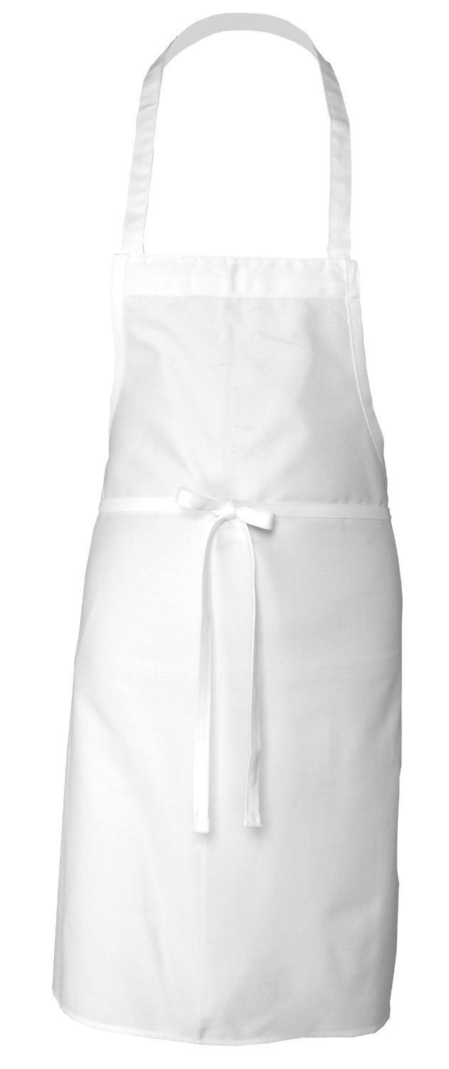 Elaine Karen Adult Men's Women's Unisex Chefs Adjustable Extra Long Ties, Professional Commercial Grade White Bib Apron