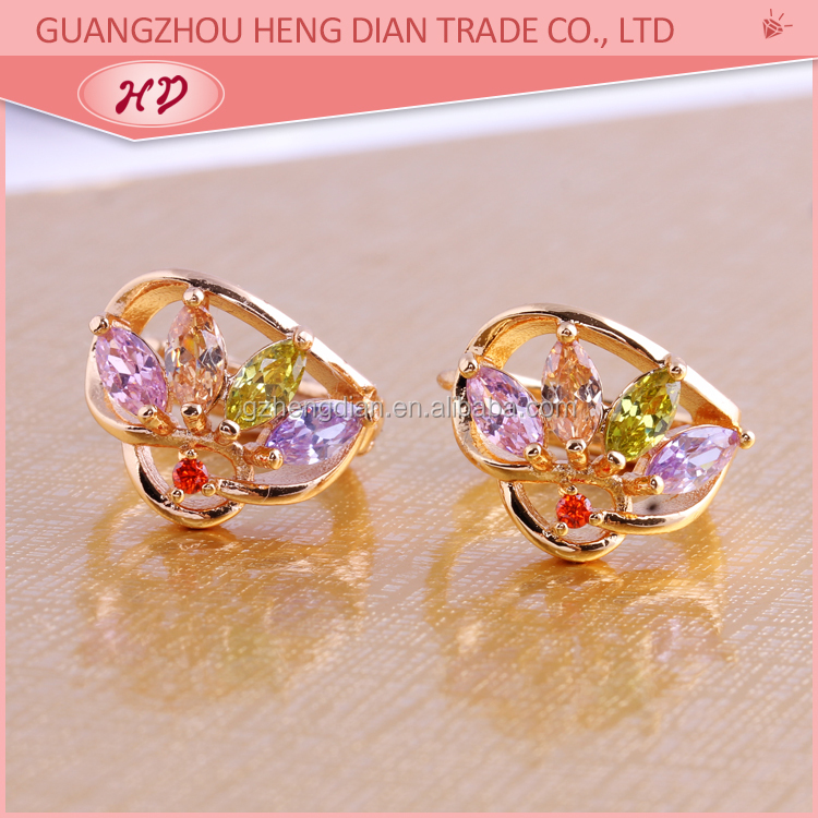 Wholesale 2015 New Fashion High Quality Cheap 18k Gold Plated Traditional Huggies Earring Jewelry for womens
