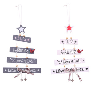 Wholesale wooden hanging christmas decorations indoor