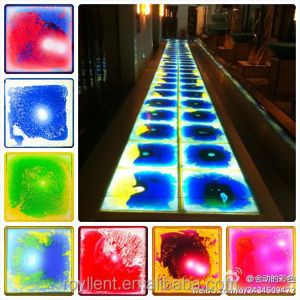 Colourful Liquid Motion Tiles 3d Flooring Liquid Interactive Plastic