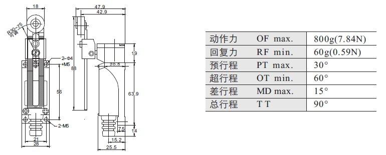 xz-8108 adjustable roller arm type 5a  250vac xck m elevator traveling limit switch