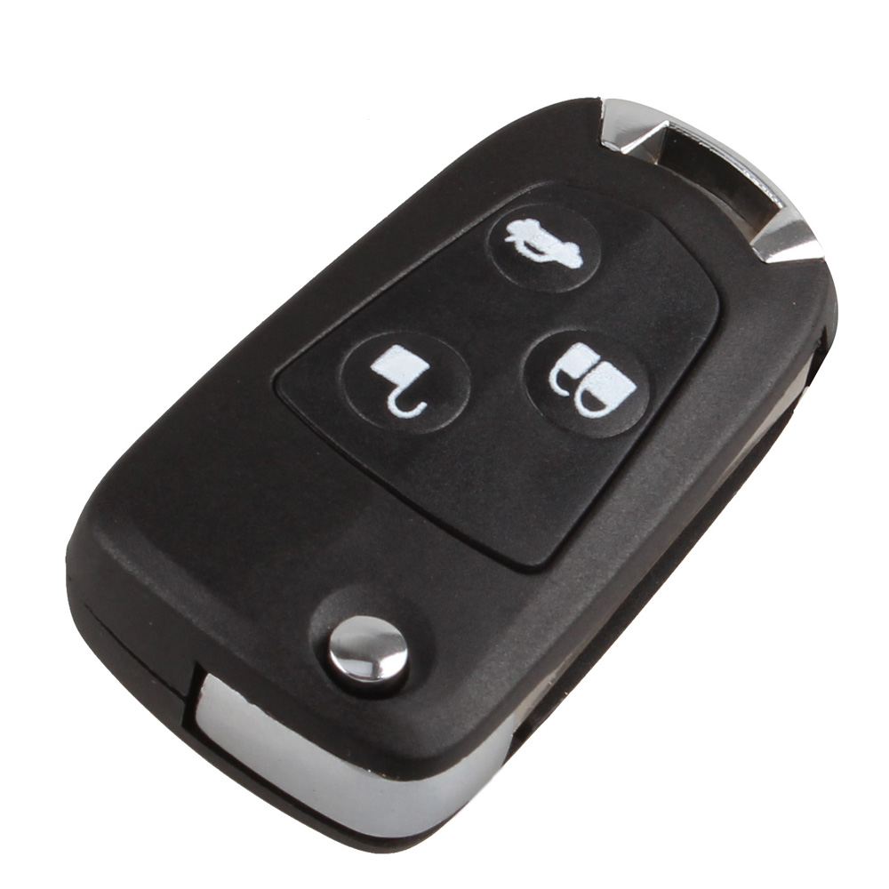 Get quotations 3 button flip fob remote car key case shell combo uncut blade car key cover for