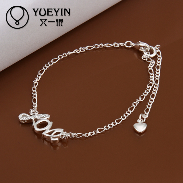 jewelry anklet pin summer beachy infinity ankle bracelet silver custom