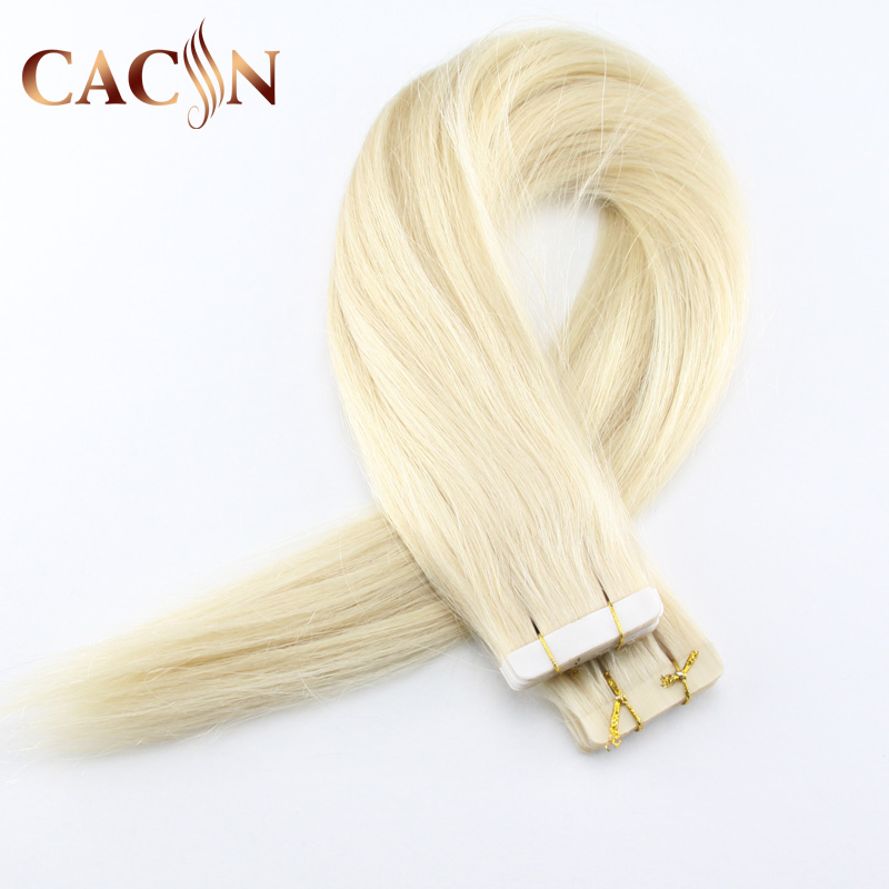 High Quality Blond Human Hair tape in extensions,Hair Weaving Extension Type and Human Hair Material silk base