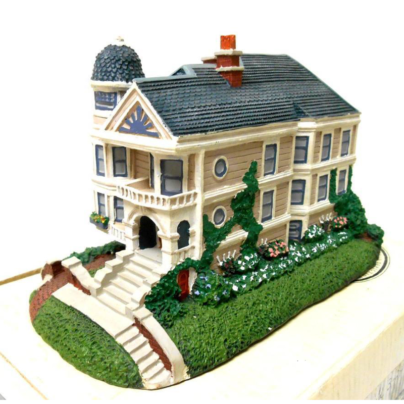 village sculpture figure Victorian house