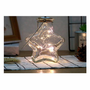 liquid active LED glow Star shape wine drinking milk bottle light