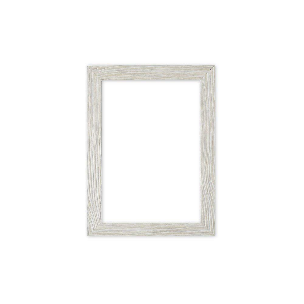 "Paintings Frames Driftwood Effect Flat Picture/Photo/Poster Frame With An MDF Backing Board Ready To Hang Or Stand With Styrene Shatterproof Perspex Sheet Frame 12""x12"" White Distressed"