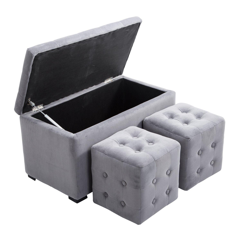 Fabulous Cheap Gray Storage Ottoman Find Gray Storage Ottoman Deals Uwap Interior Chair Design Uwaporg