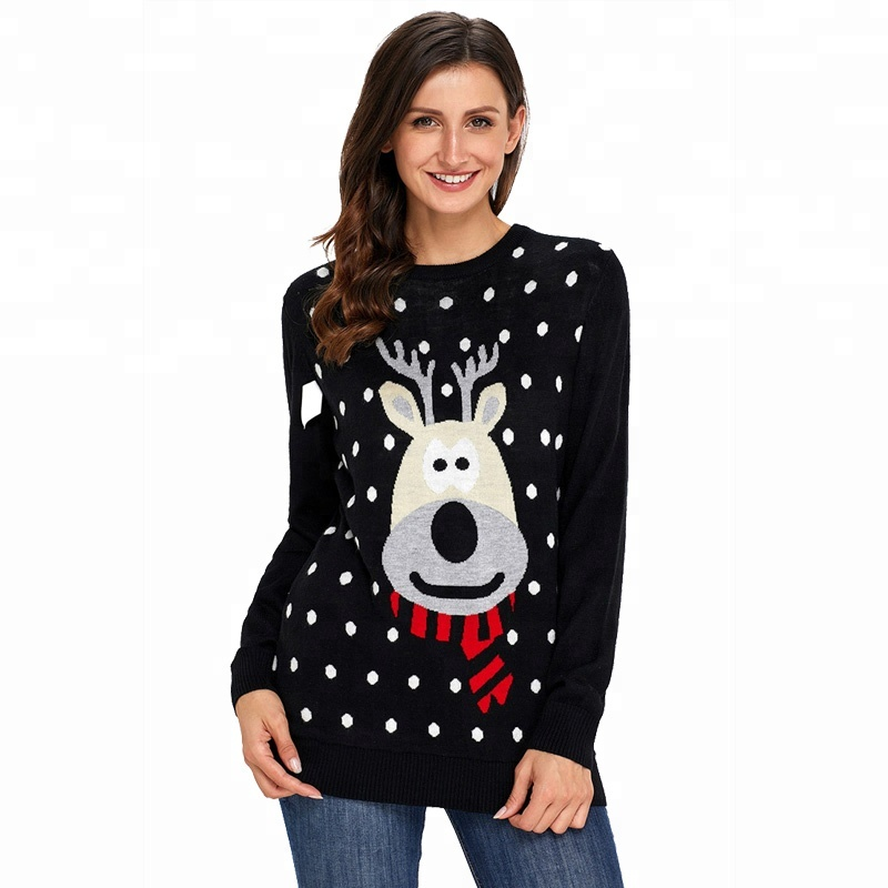Christmas Sweater Women.Women S Vintage Pullover Lightweight Reindeer Christmas Sweater Buy Women Christmas Sweaters Women Pullover Sweater Hand Knit Christmas Sweaters