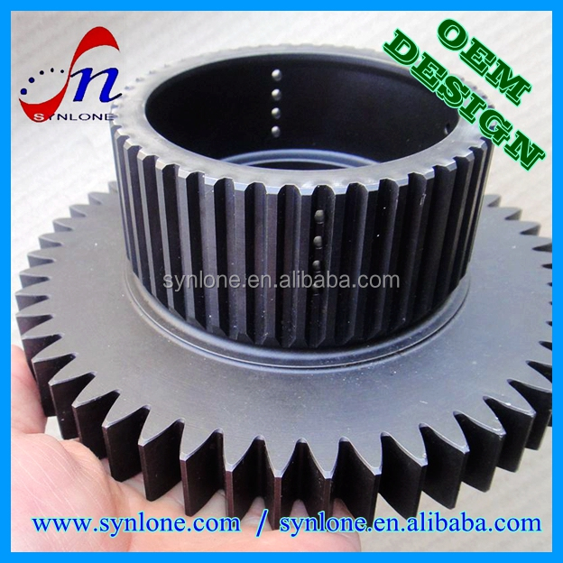 Customized C45/Q235 carbon steel forging gear