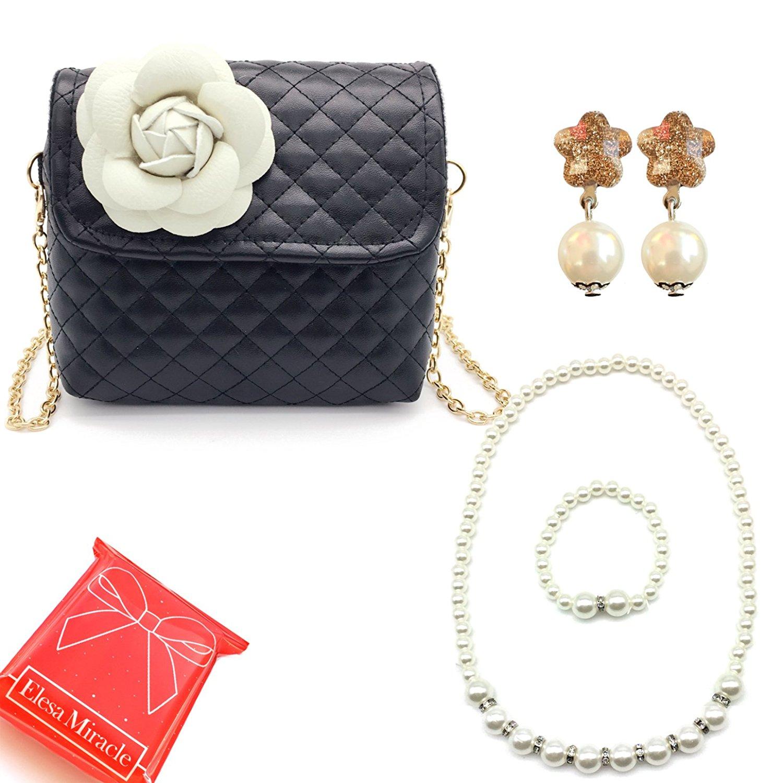 7a7e9c561ebf Elesa Miracle Little Girl Bag Beauty Set Chain Handbag Shoulder Bag +  Flower-shaped Clip