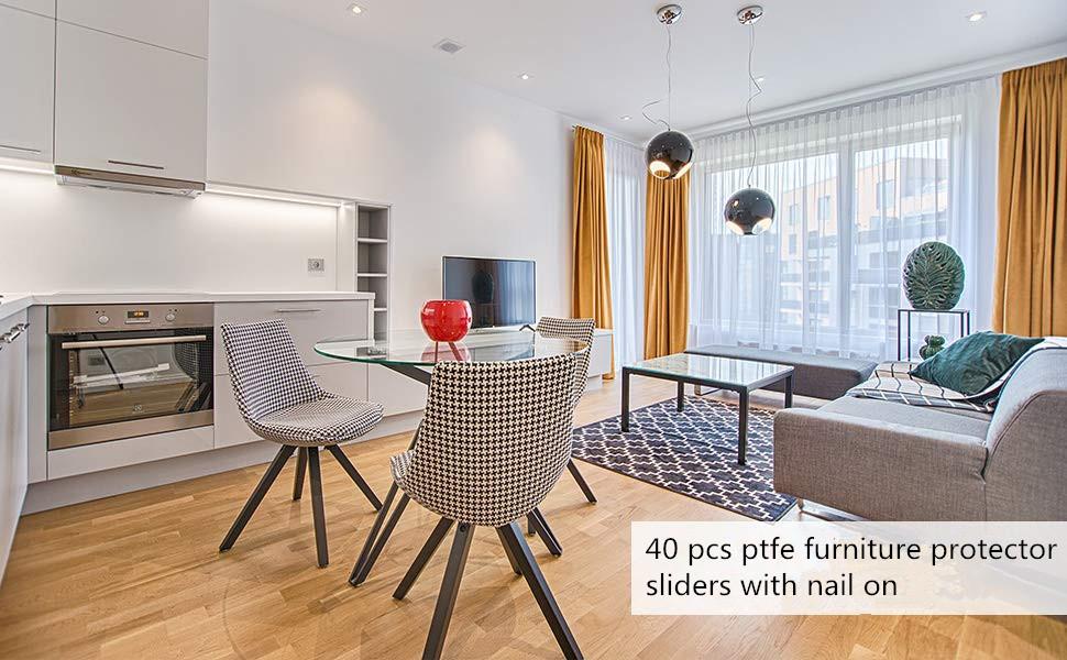 40 pcs Furniture Glide Round Nail On Sliding