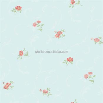 Gaya Pastoral Dinding Kertas Kecil Bunga Biru Wallpaper Wallpaper