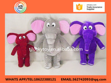 2017 custom cartoon lovely creative soft plush toys elephant for gifts