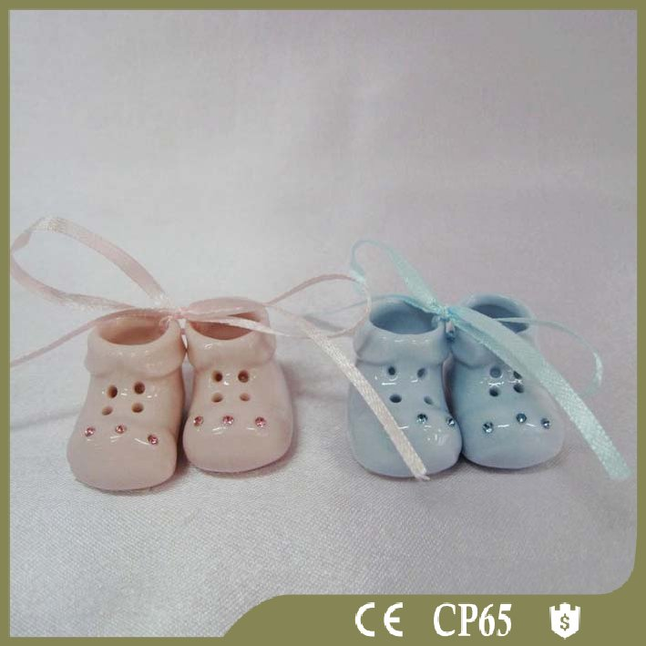 Adorable ceramic decorative shoes