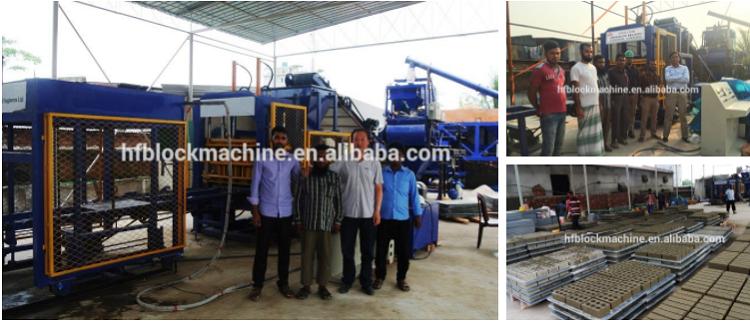 QT5-15 Entièrement Automatique Hydraulique Ciment Béton Bloc de Briques Creuses Faisant La Machine De Moulage Prix Vente Au Kenya