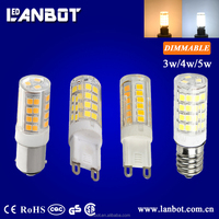 Direct Factory Price 2.5W 3W 4w 5w Dimmable Led lamp G9 LED Bulb Light for Chandelier light
