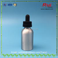 40ml Aluminum bottle with child resistant dropper cap for essential oil e liquid oil usage aluminum bottle