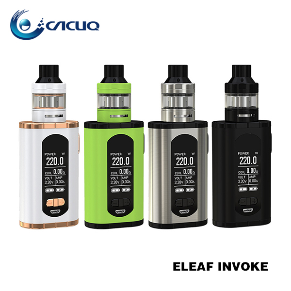 Hot Selling 220w Vaporizer Starter Kits Eleaf Invoke Kit with ELLO T