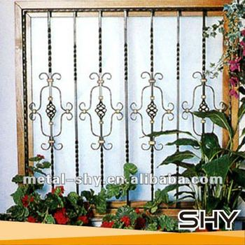Top selling modern iron window guard design wrought iron for Window protector designs