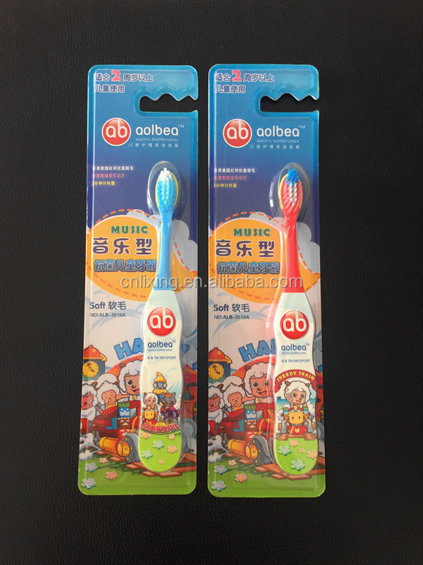 Battery powered electric music toothbrush dental products for kids