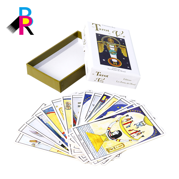 Offset cheap price printed Custom shrink wrapped tarot card deck