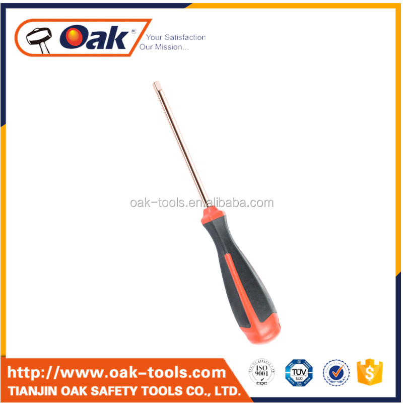 stainless steel custom oval bit screwdriver with fiberglass