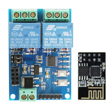 12V ESP8266 <span class=keywords><strong>ESP</strong></span>-01 2 Channel WIFI Modul untuk IOT Smart Telepon Rumah Aplikasi <span class=keywords><strong>Controller</strong></span> Onboard ESP01