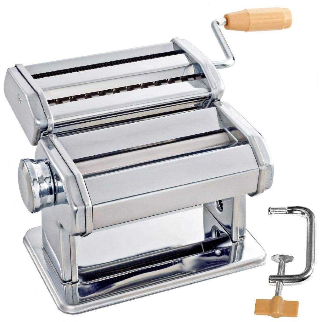 MagiDeal Stainless Steel Pasta Lasagne Spaghetti Cutter Machine Manual Pasta Noodles Maker