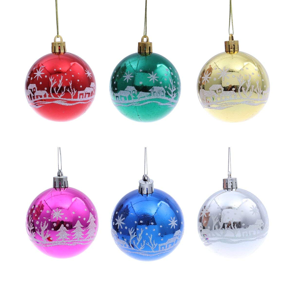 get quotations oulii 6pcs cute star snowman xmas hanging ornaments decoration christmas tree decor store hotel showcase pendant - Ceramic Christmas Decorations