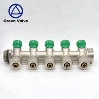 LY 043 Green Valves Brassb series top mount turbo manifold In underfloor Heating System In Taizhou Zhejiang