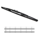 New Design Black Windscreen wipers, U-hook Car Windshield Wiper, Universal Metal Frame Wiper Blade
