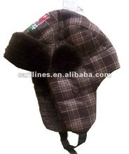 good sell warm winter earflap child fur hats in coffee colour
