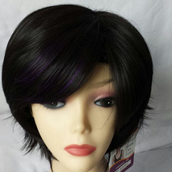 Mixed Color Hair Short Hairstyle Wig For