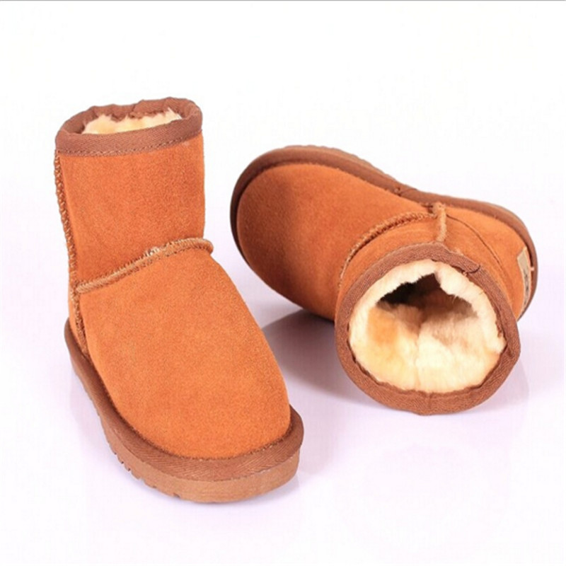 2016 Fashion Children Shoes Genuine Leather Girls Boys Boot Ugs Snow Boots Australia UG Classic Winter