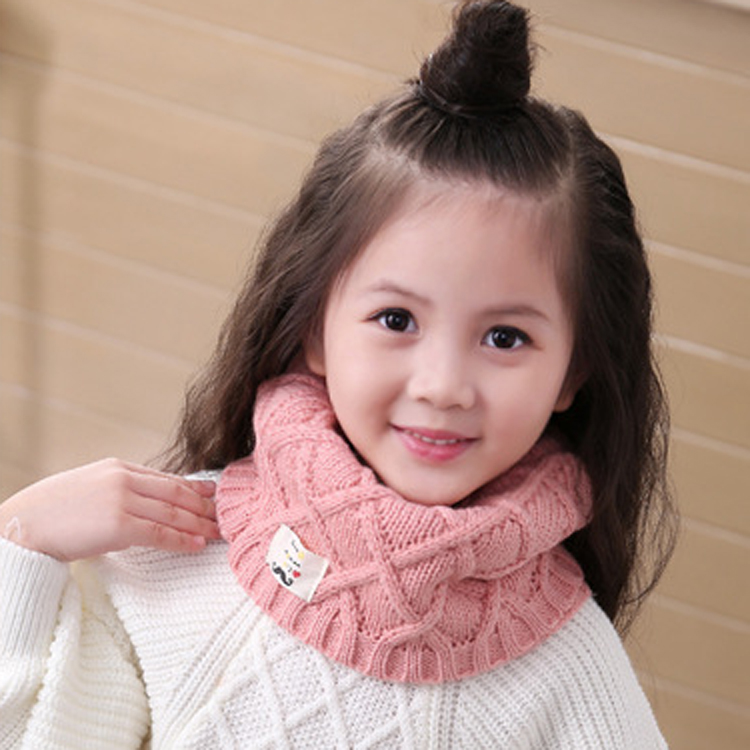 Autumn and winter children's scarf children's imitation cashmere solid color geometric scarf