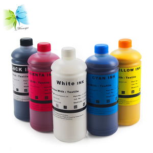 DX5 white coating free direct to garment DTG pigment ink digital textile printing for EPSON DTG printer SureColor F2000 F2100