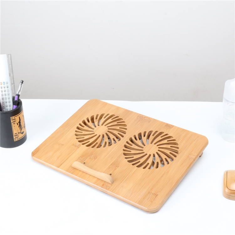 Beautiful design eco friendly bamboo <strong>laptop</strong> <strong>cooling</strong> pad <strong>fan</strong> <strong>for</strong> 15.6/17inch <strong>laptop</strong>