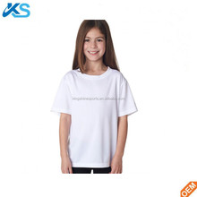 high quality 100% Combed cotton plain blank basic interlock kids t-shirt