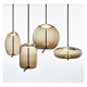 Modern Creative Style Decoration Hanging Chandelier Lamp, Amber Smokey Grey Clear Fog Glass Pendant Lighting Lamp