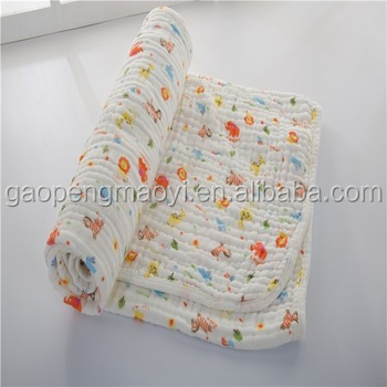 Baby diaper cartoon cotton wrap baby blanket muslin swaddle cotton muslin baby swaddle blanket