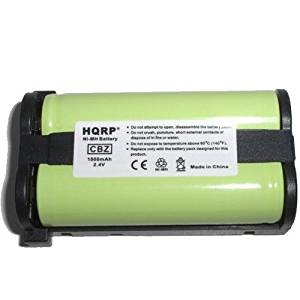 HQRP Cordless Phone Battery compatible with Panasonic HHR-P513 / HHR-P513A / N4HHEPA00001 / P-P513 / Type 27 Replacement plus Coaster